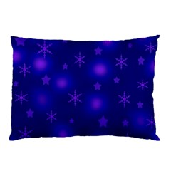 Blue Xmas Design Pillow Case (two Sides) by Valentinaart
