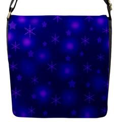 Blue Xmas Design Flap Messenger Bag (s) by Valentinaart