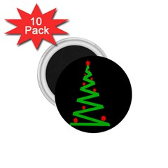 Simple Xmas Tree 1 75  Magnets (10 Pack)  by Valentinaart