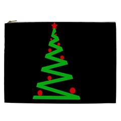Simple Xmas Tree Cosmetic Bag (xxl)  by Valentinaart