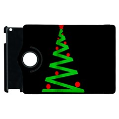 Simple Xmas Tree Apple Ipad 2 Flip 360 Case by Valentinaart