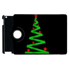 Simple Xmas Tree Apple Ipad 3/4 Flip 360 Case by Valentinaart