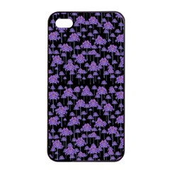 Palm Trees Motif Pattern Apple Iphone 4/4s Seamless Case (black) by dflcprints