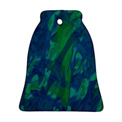 Green and blue design Bell Ornament (2 Sides)