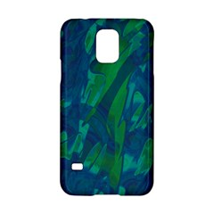 Green And Blue Design Samsung Galaxy S5 Hardshell Case  by Valentinaart