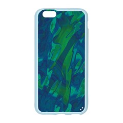 Green and blue design Apple Seamless iPhone 6/6S Case (Color) by Valentinaart