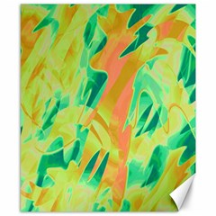 Green and orange abstraction Canvas 8  x 10  by Valentinaart