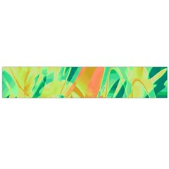 Green And Orange Abstraction Flano Scarf (large) by Valentinaart
