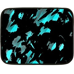 Painter Was Here   Cyan Fleece Blanket (mini) by Valentinaart