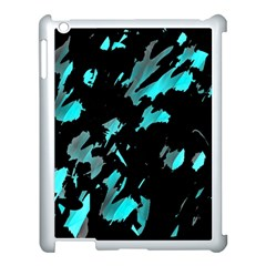 Painter Was Here   Cyan Apple Ipad 3/4 Case (white) by Valentinaart