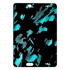 Painter Was Here   Cyan Amazon Kindle Fire Hd (2013) Hardshell Case by Valentinaart