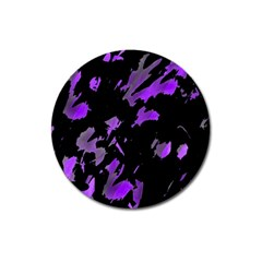 Painter Was Here   Purple Magnet 3  (round) by Valentinaart