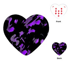 Painter Was Here   Purple Playing Cards (heart)  by Valentinaart