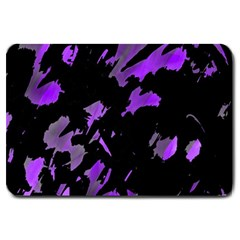 Painter Was Here   Purple Large Doormat  by Valentinaart