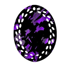 Painter Was Here   Purple Ornament (oval Filigree)  by Valentinaart