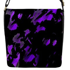 Painter Was Here   Purple Flap Messenger Bag (s) by Valentinaart