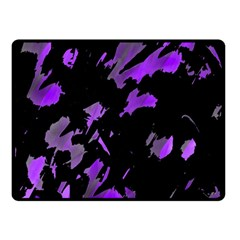 Painter Was Here   Purple Double Sided Fleece Blanket (small)  by Valentinaart