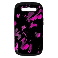 Painter Was Here   Magenta Samsung Galaxy S Iii Hardshell Case (pc+silicone) by Valentinaart