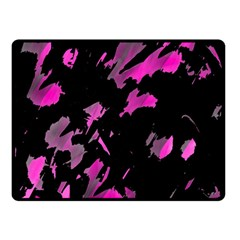 Painter Was Here   Magenta Double Sided Fleece Blanket (small)  by Valentinaart