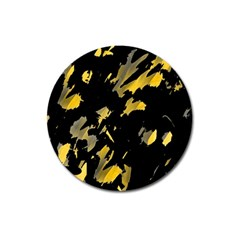 Painter Was Here   Yellow Magnet 3  (round) by Valentinaart