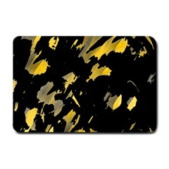 Painter Was Here   Yellow Small Doormat  by Valentinaart
