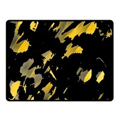 Painter Was Here   Yellow Fleece Blanket (small) by Valentinaart