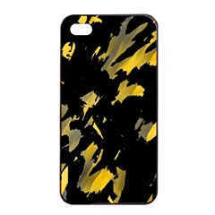 Painter Was Here   Yellow Apple Iphone 4/4s Seamless Case (black) by Valentinaart
