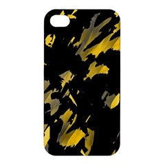Painter Was Here   Yellow Apple Iphone 4/4s Hardshell Case by Valentinaart