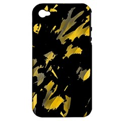 Painter Was Here   Yellow Apple Iphone 4/4s Hardshell Case (pc+silicone) by Valentinaart