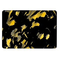 Painter Was Here   Yellow Samsung Galaxy Tab 8 9  P7300 Flip Case by Valentinaart