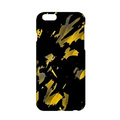 Painter Was Here   Yellow Apple Iphone 6/6s Hardshell Case by Valentinaart
