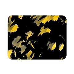 Painter Was Here   Yellow Double Sided Flano Blanket (mini)  by Valentinaart