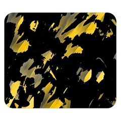 Painter Was Here   Yellow Double Sided Flano Blanket (small)  by Valentinaart
