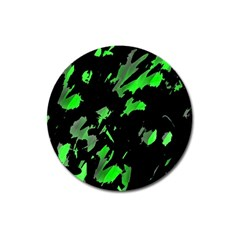 Painter Was Here   Green Magnet 3  (round) by Valentinaart