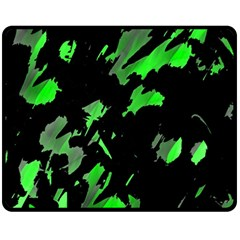 Painter Was Here   Green Fleece Blanket (medium)  by Valentinaart