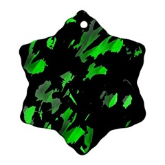 Painter was here - green Snowflake Ornament (2-Side) by Valentinaart