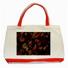 Abstract Autumn  Classic Tote Bag (red) by Valentinaart