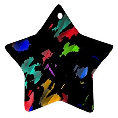 Painter Was Here Ornament (star)  by Valentinaart