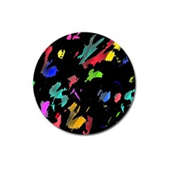 Painter Was Here Magnet 3  (round) by Valentinaart