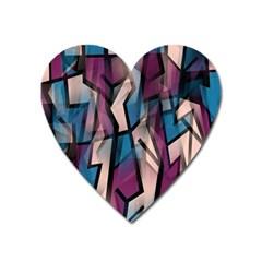 Purple High Art Heart Magnet by Valentinaart