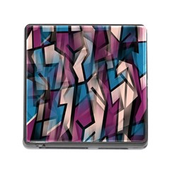 Purple High Art Memory Card Reader (square) by Valentinaart