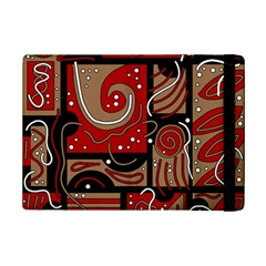 Red and brown abstraction iPad Mini 2 Flip Cases