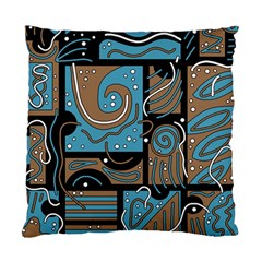 Blue And Brown Abstraction Standard Cushion Case (two Sides) by Valentinaart
