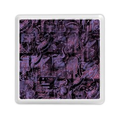 Purple Town Memory Card Reader (square)  by Valentinaart