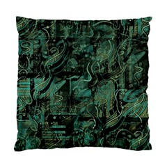 Green Town Standard Cushion Case (one Side) by Valentinaart