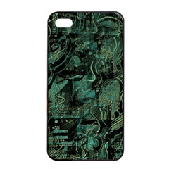 Green Town Apple Iphone 4/4s Seamless Case (black) by Valentinaart