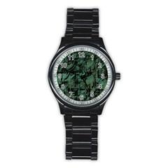 Green Town Stainless Steel Round Watch by Valentinaart