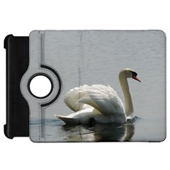 Swimming White Swan Kindle Fire Hd Flip 360 Case by picsaspassion