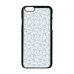 Intricate Floral Collage  Apple Iphone 6/6s Black Enamel Case by dflcprintsclothing