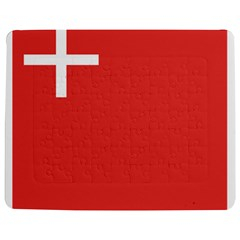 Flag of Canton of Schwyz Jigsaw Puzzle Photo Stand (Rectangular) by abbeyz71